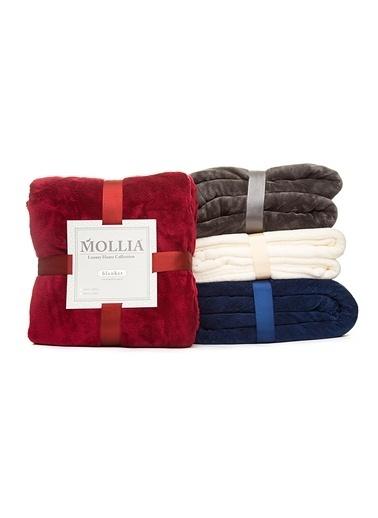 Mollia Soft Touch Çift Kişilik Battaniye Bordo